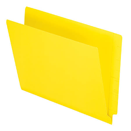 """Pendaflex® Color Straight-Cut End-Tab Folders, 8 1/2"""" x 11"""", Letter Size, Yellow, Pack Of 100"""