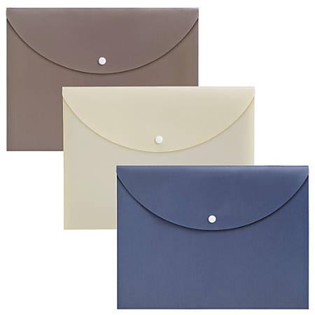 Office Depot® Brand Polypropylene Document Bag, Letter Size, Assorted Colors