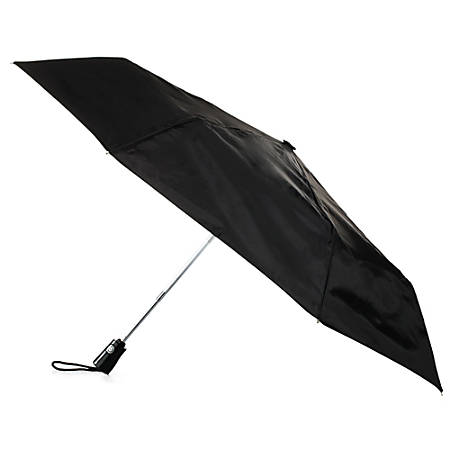 Totes Auto-Open And Close Umbrella, Medium, Black