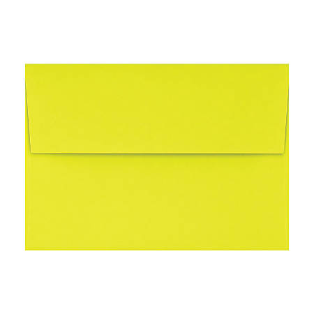 "LUX Invitation Envelopes With Peel & Press Closure, A1, 3 5/8"" x 5 1/8"", Citrus, Pack Of 500"