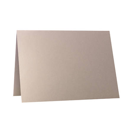 "LUX Folded Cards, A1, 3 1/2"" x 4 7/8"", Silversand, Pack Of 50"