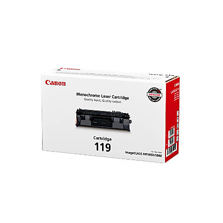 Canon CRG-119 Black Toner Cartridge (3479B001AA)