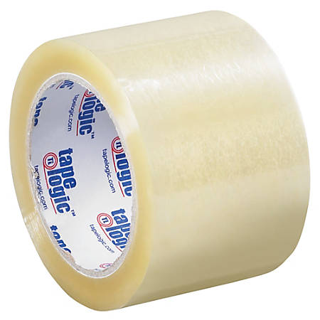 """Tape Logic® #160 Industrial Tape, 3"""" Core, 3"""" x 110 Yd., Clear, Case Of 24"""
