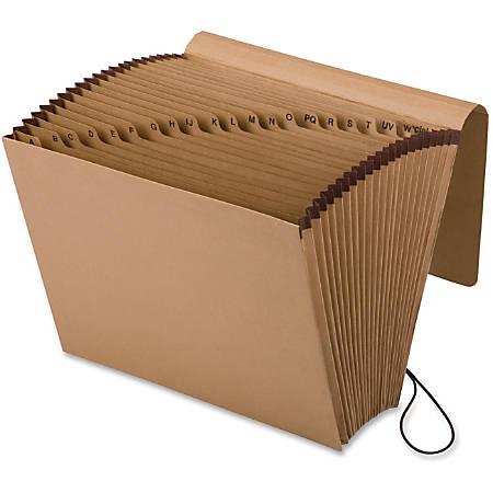 "Pendaflex® A-Z Full-Flap Expanding File, Letter Size, 7/8"" Expansion, Brown"