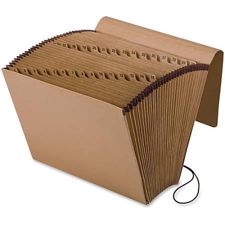 """Pendaflex® Full-Flap Daily Expanding File, Letter Size, 7/8"""" Expansion, Brown"""