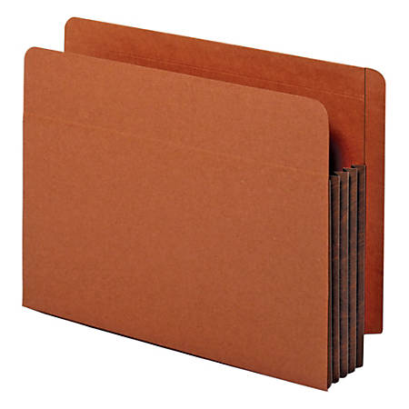 "Pendaflex® End-Tab Pockets, 3 1/2"" Expansion, Letter Size, Dark Brown, Box Of 10 Pockets"