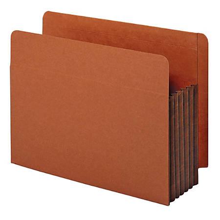 "Pendaflex® End-Tab Pockets, 5 1/4"" Expansion, Letter Size, Dark Brown, Box Of 10 Pockets"
