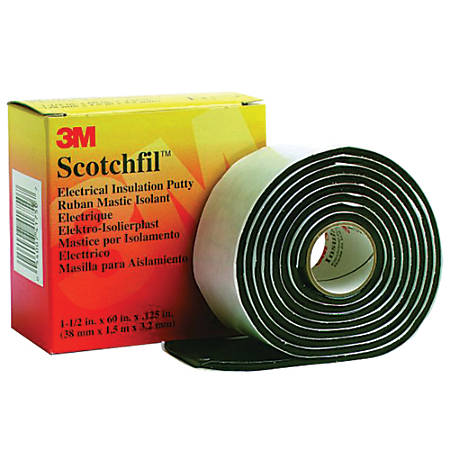 "3M™ Scotchfil™ Electrical Putty Tape, 1.5"" x 5', Black, Pack Of 4"