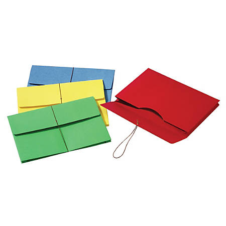 "Pendaflex® Paper Stock Expanding Wallets, 2"" Expansion, Legal Size, Assorted Colors, Pack Of 50 Wallets"