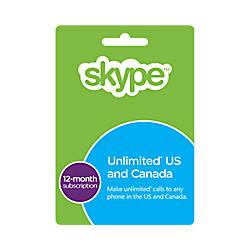 Skype Prepaid eCard 12 Month Unlimited