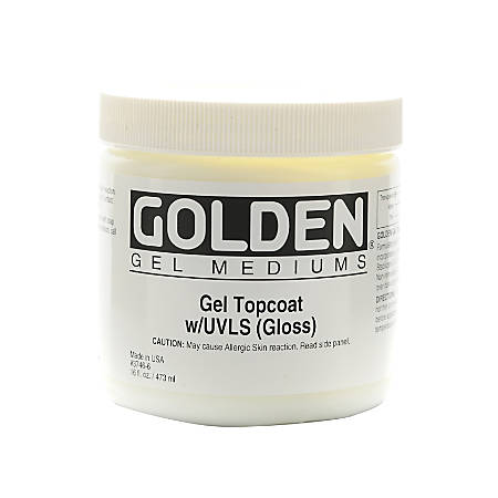 Golden Digital Mixed Media Gel Topcoat With UVLS, Gloss, 16 Oz