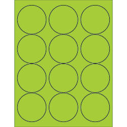 Office Depot Brand Labels LL194GN Circle