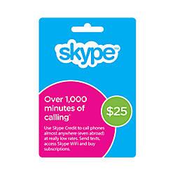 Skype Prepaid eCard 25USD Download Version
