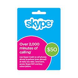 Skype Prepaid eCard 50USD Download Version