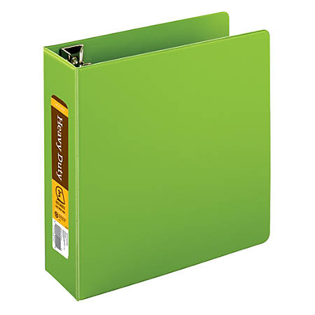 """[IN]PLACE® Heavy-Duty Easy Open® D-Ring Binder, 3"""" Rings, 59% Recycled, Army Green"""