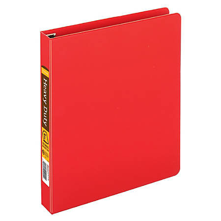"[IN]PLACE® Heavy-Duty Easy Open® D-Ring Binder, 1"" Rings, 59% Recycled, Red"