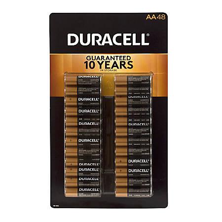 Duracell® Alkaline AA Batteries, Pack Of 48, 220-00692