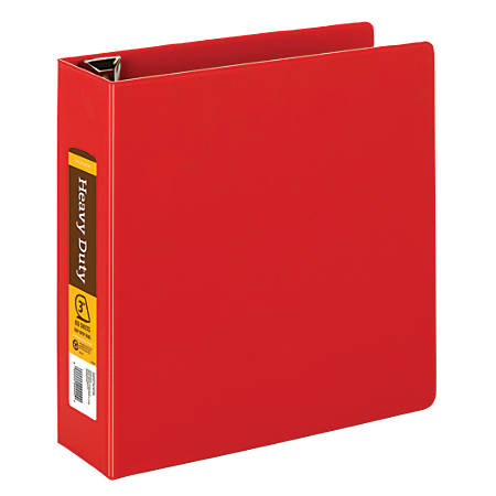 "Office Depot® Brand Heavy-Duty D-Ring Binder, 3"" Rings, Red"