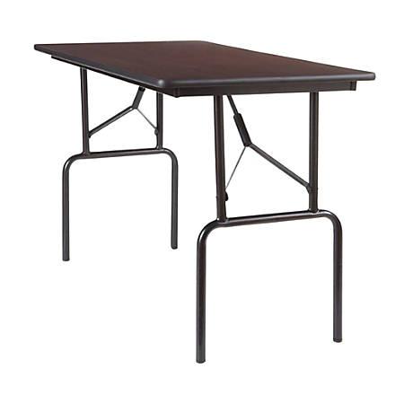 """Realspace® Folding Table, 4' Wide, 29""""H x 48""""W x 24""""D, Walnut"""
