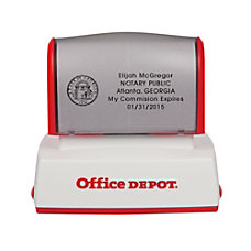 Office Depot Brand Pre Inked Notary