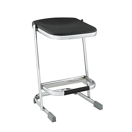 "National Public Seating Elephant Z-Stools, 24""H, Black/Chrome, Set Of 3"