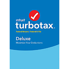 TurboTax Deluxe Federal E File 2017