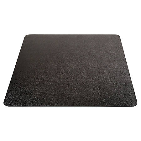 "Deflecto® EconoMat Hard Floor Chair Mat, 46"" x 60"" Rectangle, Black"