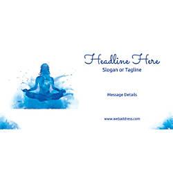 Custom Horizontal Banner Meditation