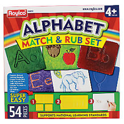 Roylco Alphabet Match Rub Set 3