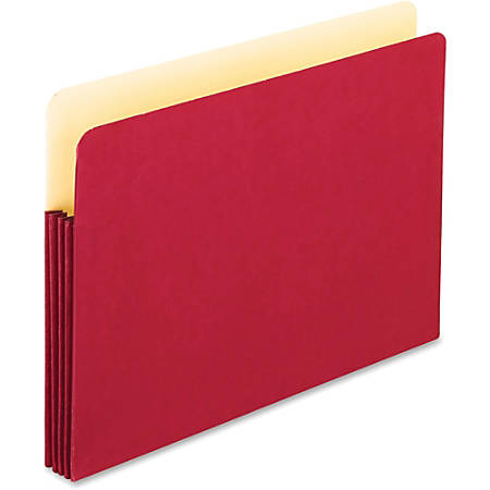 "Oxford® Color Expanding File Pocket, Legal Size, 3 1/2"" Expansion, Red"