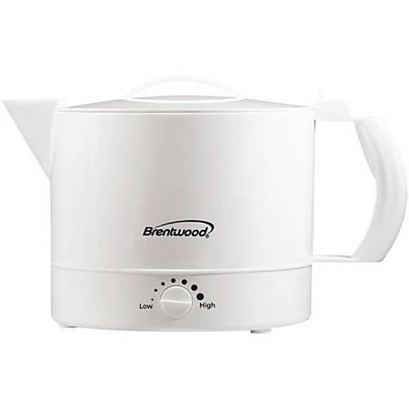 Brentwood 32-Oz Hot Pot, White