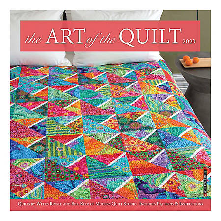 "Willow Creek Press Hobbies Monthly Wall Calendar, 12"" x 12"", Art Of The Quilt, January To December 2020"
