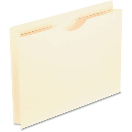 """Oxford® Reinforced-Top File Jackets, Letter Size, 2"""" Expansion, Manila, Box Of 50"""