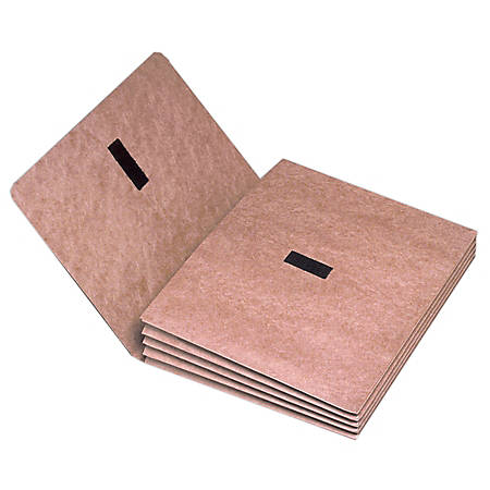 """SKILCRAFT® Expanding Wallet Folder, 9 1/2"""" x 11 3/4"""", Elastic Tie Closure (AbilityOne 7530-00-268-3993), 50% Recycled"""