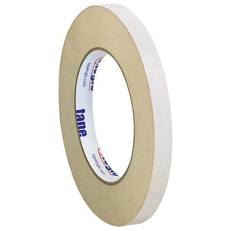 "Tape Logic® Double-Sided Masking Tape, 3"" Core, 0.5"" x 108', Tan, Case Of 3"
