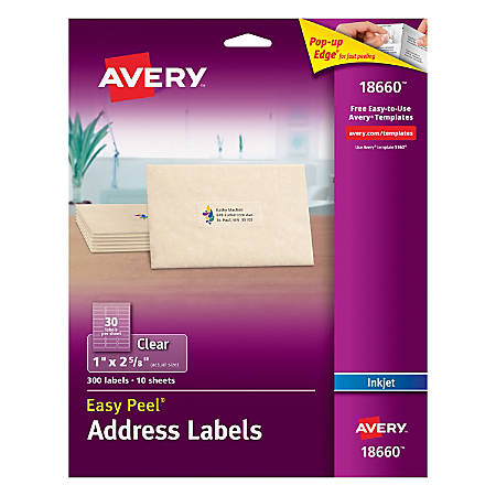 Avery® Easy Peel® Permanent Address Labels, 18660, 1
