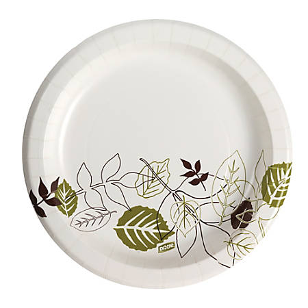"""Dixie® Paper Plates, 8-1/2"""", Pathways Design, Pack Of 125 Plates"""