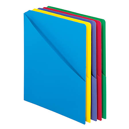"Pendaflex® Slash-Pocket Project Folders with Holder for CDs/DVDs, 11"" x 8 1/2"", Assorted Colors, Pack Of 25"