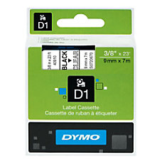 DYMO D1 40910 Black On Clear