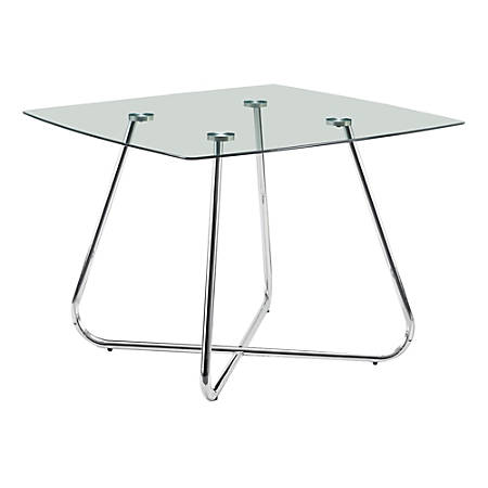 """Monarch Specialties Aiden Dining Table, 31""""H x 40""""W x 40""""D, Clear Glass"""