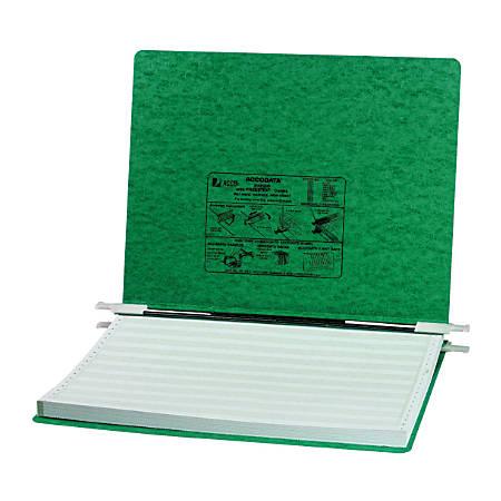Wilson Jones® Presstex® Data Binder With Storage Hooks, 60% Recycled, Dark Green