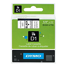 DYMO D1 43610 Black On Clear