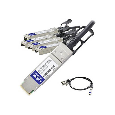 AddOn Cisco QSFP-4SFP10G-CU1-5M Compatible TAA Compliant 40GBase-CU QSFP+ to 4xSFP+ Direct Attach Cable (Passive Twinax, 1.5m)