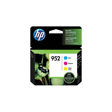 HP 952 Cyan/Magenta/Yellow Ink Cartridges (N9K27AN#140), Pack Of 3