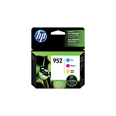 HP 952 CyanMagentaYellow Ink Cartridges N9K27AN140
