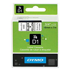 DYMO D1 45808 Black On Yellow