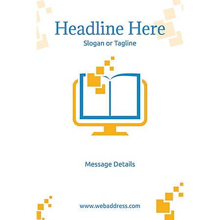Custom Poster, Digital School Book, Vertical