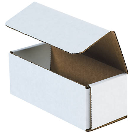 "Office Depot® Brand 8"" Corrugated Mailers, 3""H x 6""W x 9""D, White, Pack Of 50"