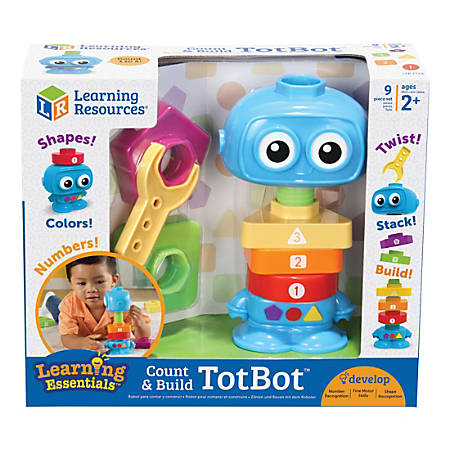 Learning Resources Count And Build TotBot Build Set, Set Of 5 Pieces
