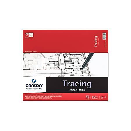 """Canson Tracing Pad, 14"""" x 17"""", 50 Sheets"""